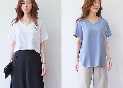 la-st  V.neck soft 041 blouse-입고시 초초대박-