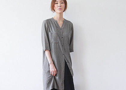넥open st.m 694 long blouse
