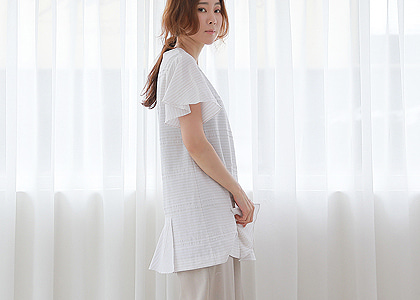 M-st 왕러플 long 815 blouse