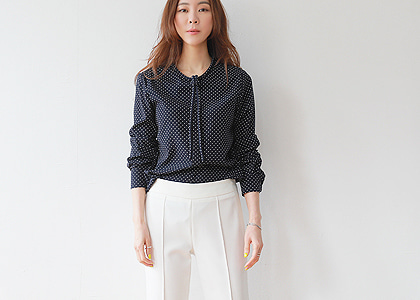c-st mine 04 dot blouse -넥연출 탈부착-