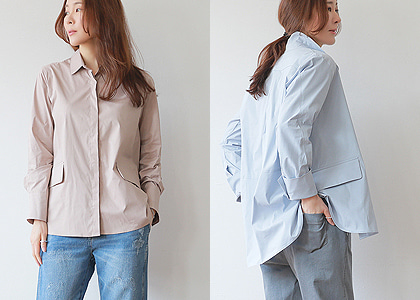 뒷주름 3106 soft blouse& jacket