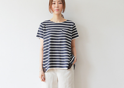 Mine pocket 플레어 silk TOP