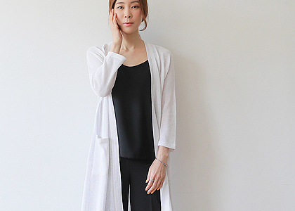 pocket 민넥 cool linen outer-초초대박행진-부분 품절임박-