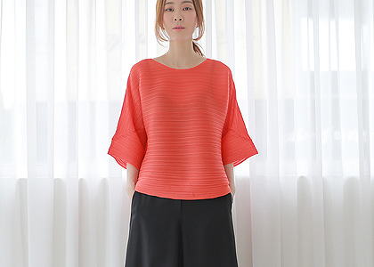 i-st  통 주름 61110 blouse-파샤단독 made in japan-