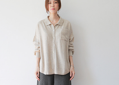 소매 BUTTON 1917 blouse -mongolia cashmere 직수입-