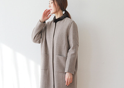 MInk neck 체크 9905 outer