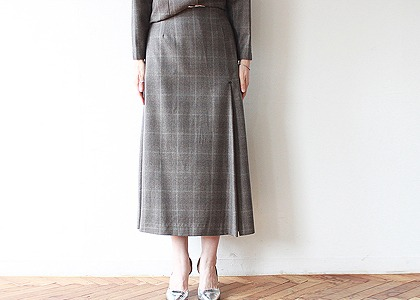 옆트임 wool 2016 skirt - fabric by italy -