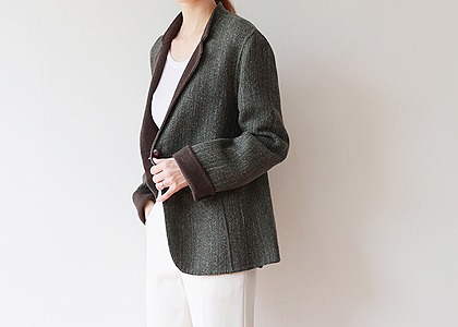 배색 이중 SOFT OUTER -hand made-