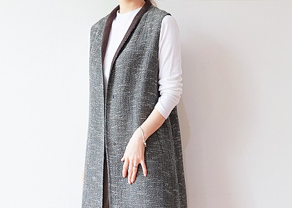 ONE 배색 안감 7010 VEST- FABRIC BY ITALY-