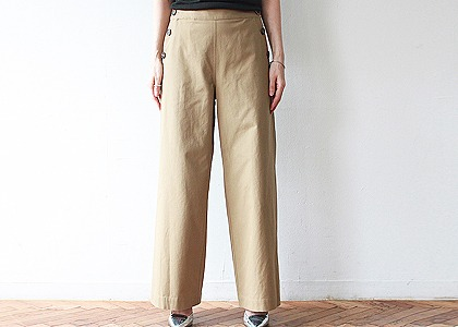 i-st Button cotton 와이드 pants