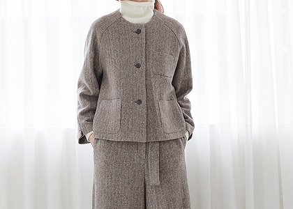 라운드 헤링본 3010 outer-fabric by italy-