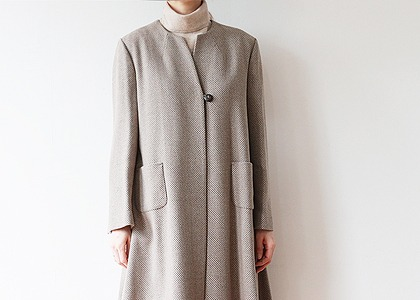 One button 플레어 cashmere outer