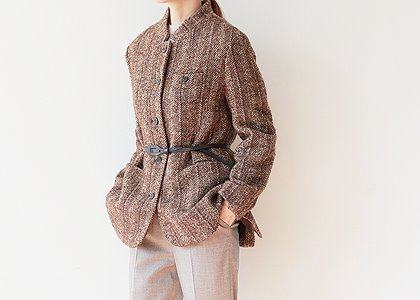 Wood button 뒷트임 OUTER -벨트포함-