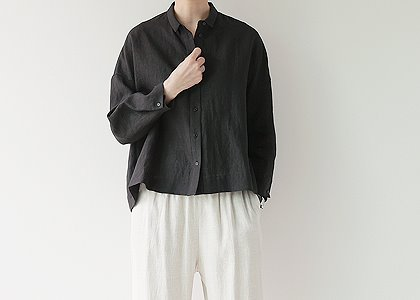 소매 button linen 5006.2 blouse